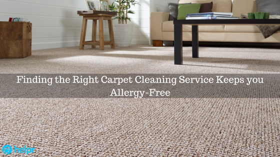 Finding the Right Carpet Cleaning Service Keeps you Allergy-Free - feature image